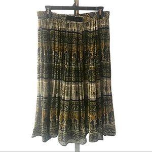 Papillon Vintage Boho India Gauze Tiered Skirt